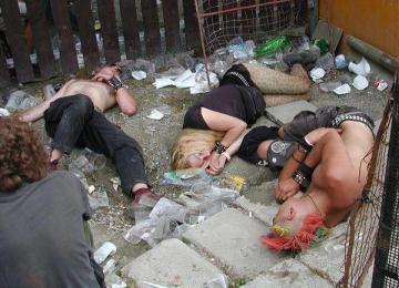 Droga y alcohol, efectos.