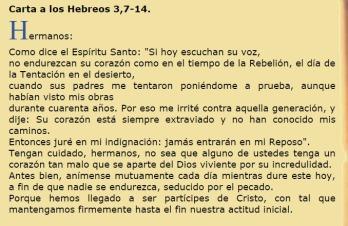 EVANGELIO DEL DIA 4